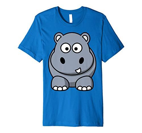 Süßes Nilpferd Cartoon Tier T-Shirt Hippo hinten auf der Rückseite