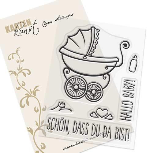 Karten-Kunst-Stempel Clear Stamp Stempelgummi Schön, DASS Du da bist