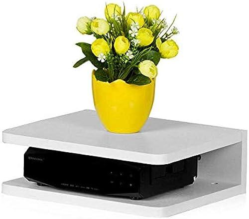 Willesego Floating Frame Shelf Double-Layer-Digital-TV-Set-Top-Box-Regal U-Form MDF (Farbe   -, Größe   -)
