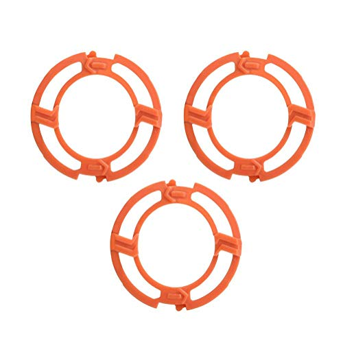 Garosa 9Pcs Orange Blade Retaining Rings Retaining-Plate Holder Compatible for Philips Norelco Series 7000 9000 RQ12 Models