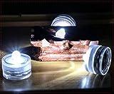 ZHEG wasserdichte Led Laterne, Batterie Glühbirne, Farbe Tauchen Kerze Lampe, Dekorative Lampe, Aquarium Lampe 5 Stücke-Weiß