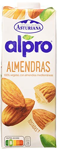 Alpro Central Lechera Asturiana Bebida de Almendra - Paquete de 8 x 1000 ml - Total: 8000 ml