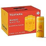 Teavana Craft Mango Black Iced Natural Tea with Lime Flavor 12 Fl. Oz. Cans (Pack of 12)