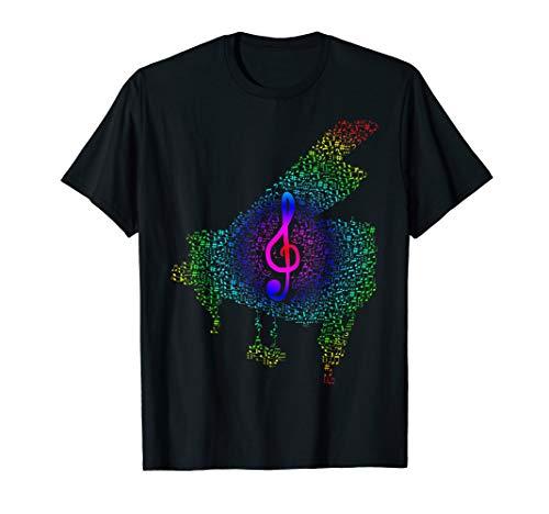Klavier & Noten mit schönem Notenschlüssel T-Shirt