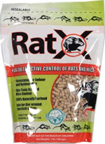 EcoClear Products 620101, RatX All-Natural Non-Toxic Humane Rat and Mouse Killer Pellets, 1 lb. Bag