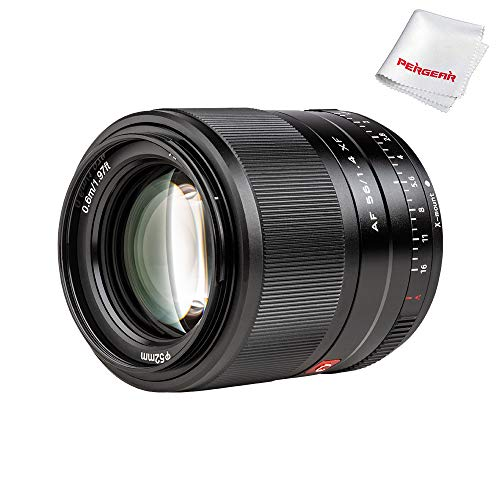 Viltrox 56mm F1.4 Autofocus Portrait Lens Compatible with Fujifilm X-Mount APS-C-Format Mirrorless Designed Cameras
