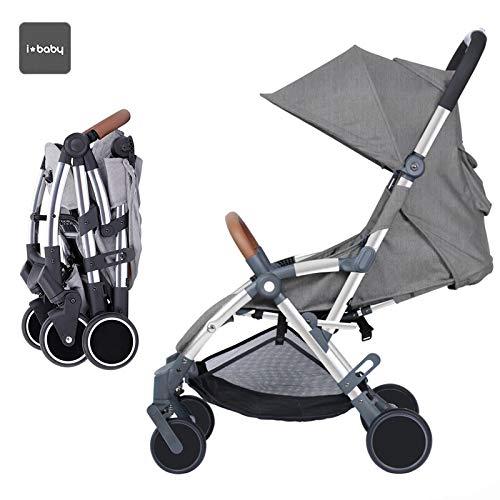 Star Ibaby - Silla de paseo Air +, reclinable con barra de seguridad, color gris