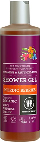 Urtekram Nordic Berries douchegel Bio, met vitaminen en antioxidanten, 250 ml