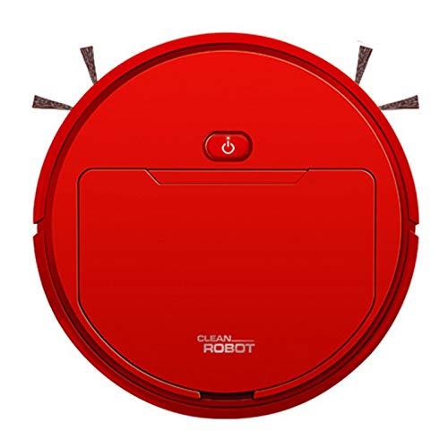Gesh 2500Pa Aspiradora inteligente multifuncional Robot barrido mopa húmeda automática 3 en 1 recarga seca y húmeda aspiradora roja