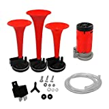 AllExtreme EXCAHR3 Car/Bikes Air Horn with 12 Volt Air Compressor and Attachment Screws and Brackets...