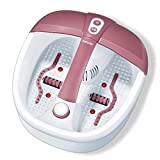 Beurer FB35 Foot spa with Aromatherapy | Foot Massager with stimulating Infrared Light Therapy | 3 Pedicure attachments | Versatile Foot Bath with Vibration, Bubble Massage, and Reflexology Rollers