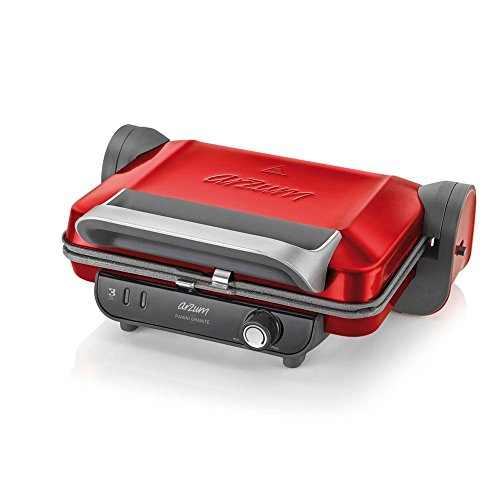 Arzum Grill/Panini Maker contactgrill, rood
