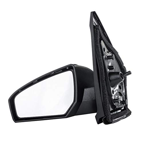 Driver Side Mirror for Nissan Altima Sedan (2013 2014 2015 2016 2017) Left Outside Rear View Unpainted Power Operated Non-Heated Non-Folding Replacement Door Mirror - NI1320223