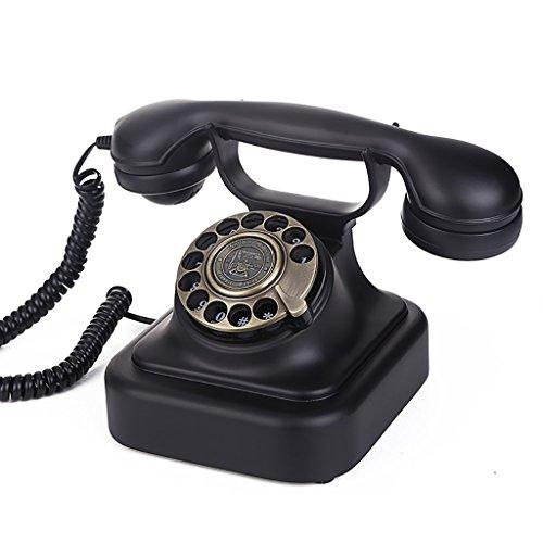 Fournir Un téléphone à la Maison, Téléphone Fixe Européen Rétro Vintage Téléphone À La Maison Noir Salon Chambre Bureau Fixe Ligne Fixe européenne, (Color : A)