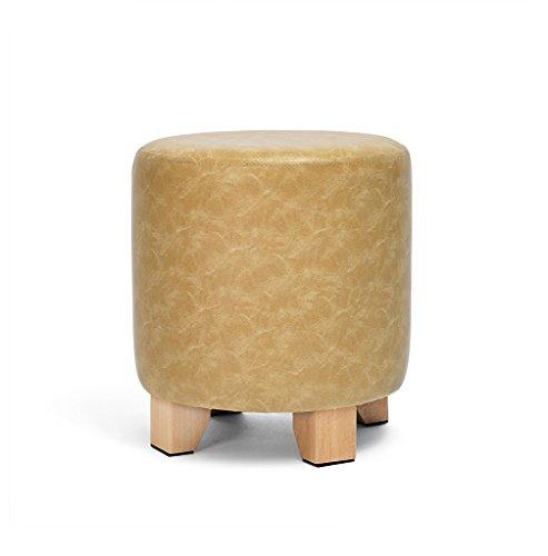 CSQ-portable Taburete del sofá, soporte de la pierna de madera de la parte inferior del banco pequeño Buena estabilidad Superficie de cuero artificial usada para la mesa de centro al aire libr
