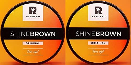 Byrokko Shine Brown - Acelerador de bronceado de pemio (2 unidades, 190 ml, 2 tubos), color marrón