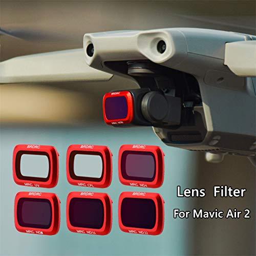 VWsiouev für DJI Mavic Air 2 Drohne Objektivfilter, optischer Glas-Kameraobjektivfilter,...