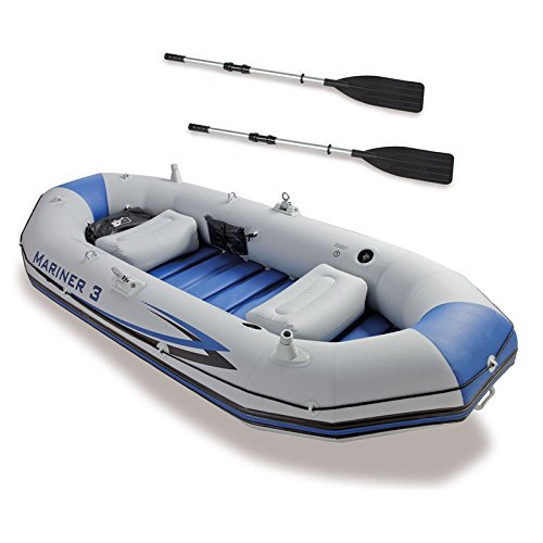 Best Deals! oldzon Mariner 3-Person Inflatable River/Lake Dinghy Boat & Oars Set With Ebook