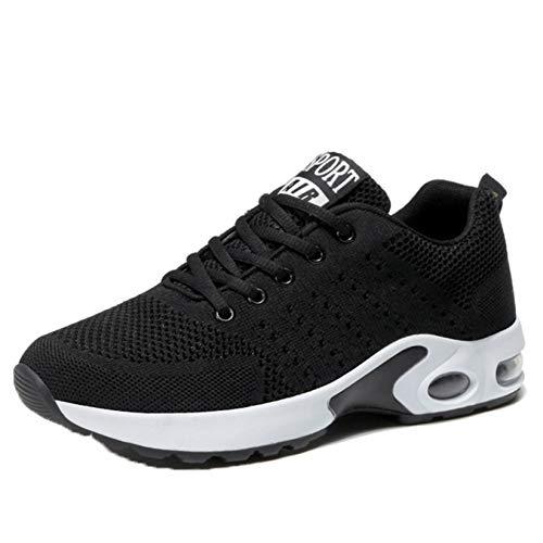 Zapatos Deportivos para Mujer, Zapatillas de Deporte de Punta Redonda con cojín de Aire Duradero, Antideslizantes, Elegantes y cómodas, Zapatillas para Caminar diarias al Aire Libre