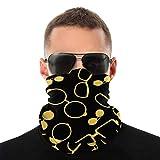 EU Gafas de Color Negro y Dorado Accesorios Variedad Bufanda para la Cabeza Unisex Moda Cubierta de la Cara Polvo Multifuncional A Prueba de Viento Cuello Polaina Sombreros Magia