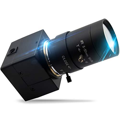 2MP Webcam 5-50mm Varioobjektiv USB-Kamera HD 1080P Hochgeschwindigkeits-VGA 100fps USB mit Kamera CMOS OV2710 Sensor Mini Industriekamera mit Aluminium Mini Case Play & Plug Free Drive OTG 2.0 Kamera