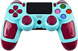 ZFY PS4 Game Controller for PS4, Bluetooth Wireless Gamepad Compatible with PS-4/Slim/Pro/PC/Android,High Sensitivity Game Joystick with Speaker and Touch Panel, USB Cable - Blue
