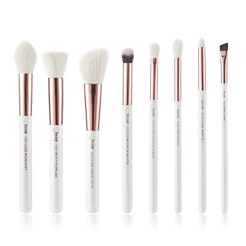 VIE White/Rose Gold Makeup Brushes Set Beauty Make up Brush Hair Foundation Powder Blushes,T218(8PCS)