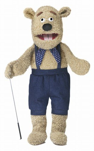 28' Silly Bear w/ Arm Rod, Full Body, Ventriloquist Style, Animal Puppet