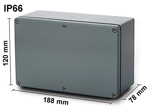 edi-tronic Aluminium Leergehäuse 188x120x78mm Industriegehäuse IP66 Gehäuse Box Kasten Dicht