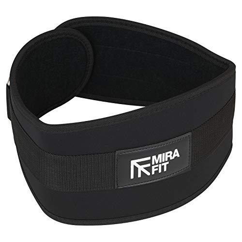 MiraFit Pro Range Gewichthebergürtel für Fitnessstudio und Kreuzheben