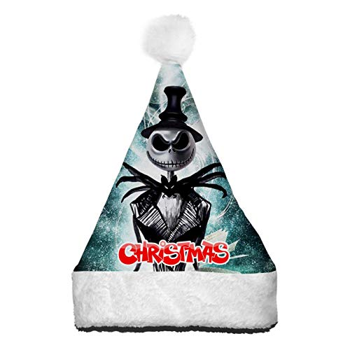 PETWIN Merry Ghost Christmas Hat Santa Hat 3D Printin Colorful Light Up Xmas Hats for Christmas Festival Party Costume Gifts