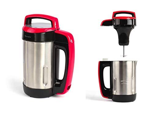 Roestvrijstalen keukenmachine met kookfunctie, 850 watt, soepbereider, blender (koekkoker elektrisch met mixer, smoothiemaker, thermokoker)