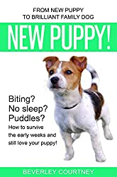 Image: New Puppy!: From New Puppy to Brilliant Family Dog | Kindle Edition | by Beverley Courtney (Author). Publisher: Quilisma Books (December 14, 2018)