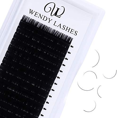 Extensions cils 0.10mm C Curl 12mm tray 16 rangées Extensions de cils individuels Extensions de cils en faux-vison soyeux