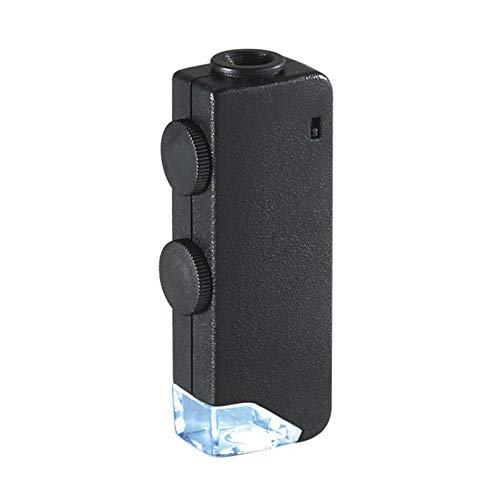 pedkit MicroBrite Plus 60x-100x LED Lighted Pocket Microscope Optical Glass Lens Mini Portable