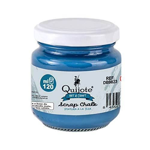 PINTURA A LA TIZA QUIJOTE PAPER WORLD - Chalk paint, a base de agua, 120ml, para muebles, madera, metal, cerámica, piedra, escayola, vidrio - AZUL OSCURO.