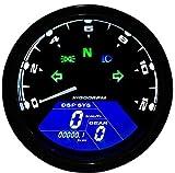 Takusan Shopping バイク用 52mm LCD デジタル スピードメーター 防水 ブラック オートバイ計器 LCD計器 オートバイ走行距離計 タコメーター 速度計 LCD燃料計 バイク 250TR CB250 CRF CT110 CT125 DT50 GS50 JAZZ SR400 SR500 TS50W TS50Wハスラー TW TZ50 TZR TZR50 W650 Z250 エストレヤ エリミネーター カブ カフェレーサー ジャズ スーパーカブ ズーマー ドラッグスター ネイキッドバイク ホンダ ダンク モンキー ゴリラ