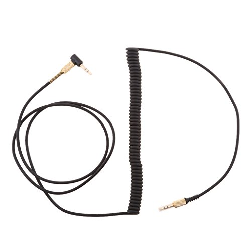Sharplace 3.5mm zu 3.5mm Aux Audiokabel Kopfhörer Verlängerungskabel für Marshall Major II Marshall Monitor,schwarz