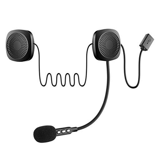 XBJSY Bluetooth 5.0 Moto Helmet Headset Wireless Handsfree Auricular Estéreo Estéreo Casco De Motocicleta Auriculares Auriculares MP3 Altavoz GLZERJ (Color : Black)