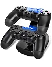SKEIDO Dual Controller Holder Charger 2 USB Handle Dock Station Stand Charger for PS4 Controller