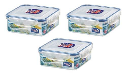 LockundLock Lunch-Boxen-111000082303 Lunch-Boxen, transparent, 3er Pack