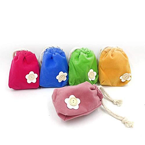 Hunde Ausbildung Treat Tasche Kordelzug Dog Treat Taschen Snack-Beutel weiche Mini Haustier-Trainings-Bag Set Abfallbeutel (Color : Mix Color, Size : 18.5 * 15.5cm)