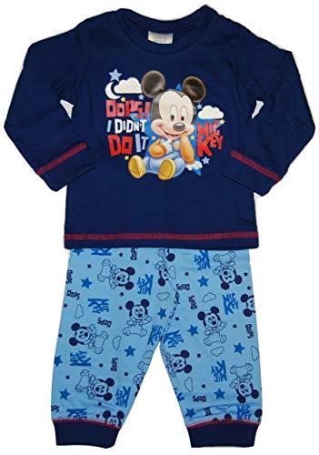 Disney Baby Jungen Schlafanzug Micky Maus Gr. 18-24 Monate, Micky Maus