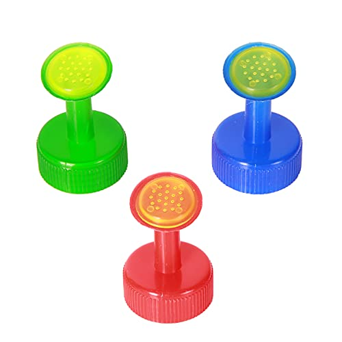 3 tapas para botellas, boquilla de aspersión, 3 cm de diámetro de la boca de la botella, tapa para botellas de plástico, cabezal de regadera, cabezal de pulverización mini
