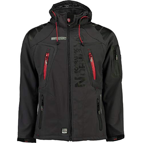 GEOGRAPHICAL NORWAY – giacca softshell giacca funzione resistente all' acqua, Grey - Dark grey, Small