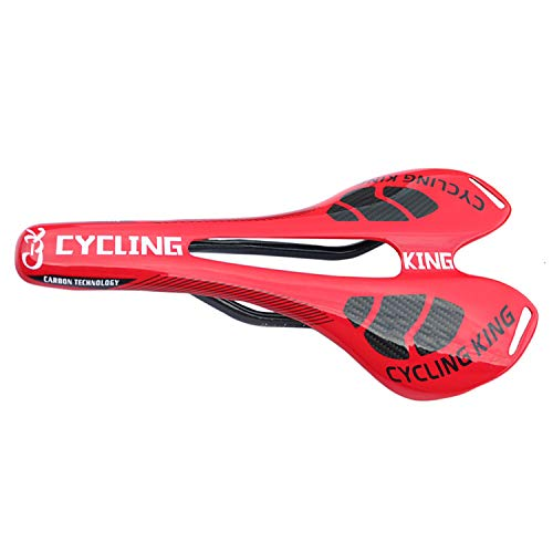 FitTrek Sillín de Bicicleta de Carbono 3K - Asiento de Bicicleta de MTB Liviano - Sillín de Bici de Montaña - Asiento de Ciclismo para MTB Carretera