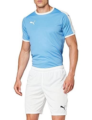 PUMA Herren Liga Core Shorts, PUMA White-PUMA Black, 16-19 EU