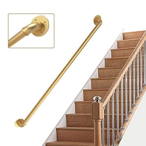 barandilla de Tubo de Hierro barandilla Interior para Ancianos barandilla Antideslizante Negra YERT- Barandilla de Escalera Adecuado para /ático, Color: Negro, tama/ño: 80 cm