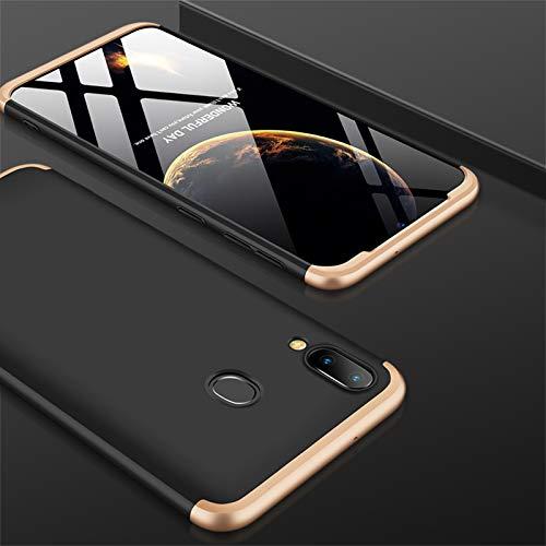 Custodia Samsung Galaxy S8, AChris 3 in 1 Sottile Rigida Bumper Case per Samsung Galaxy S8 Anti-Graffo Anti-Olio Anti-Impronta Antiurto- Oro/Nero