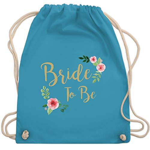 Shirtracer JGA Junggesellenabschied Frauen - Bride To Be - Unisize - Hellblau - jga bride to be turnbeutel - WM110 - Turnbeutel und Stoffbeutel aus Baumwolle